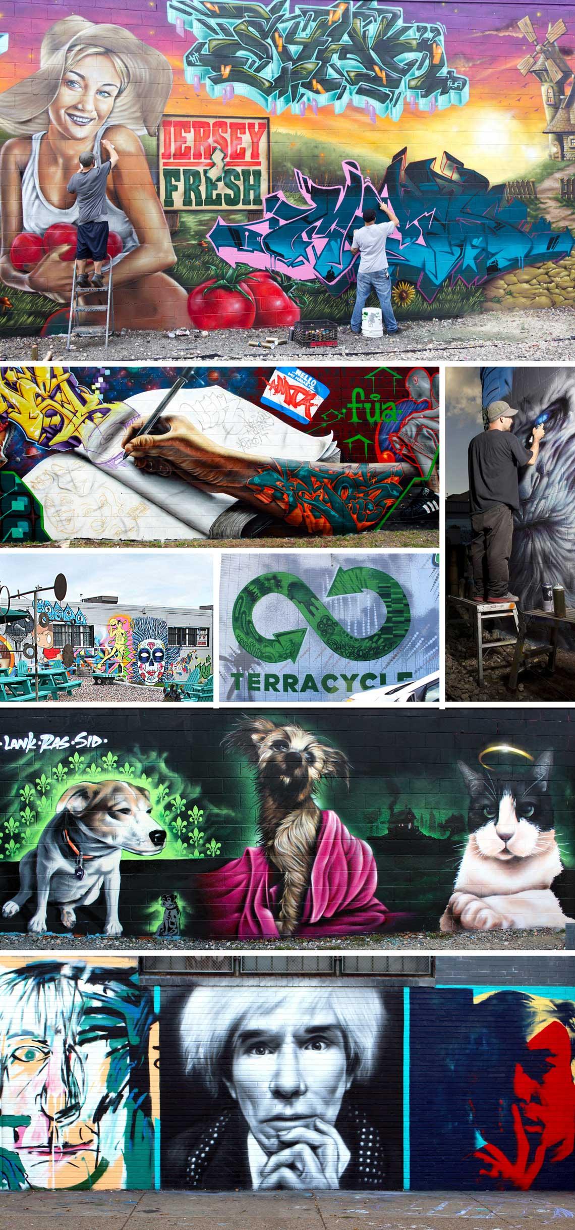 Graffiti collage